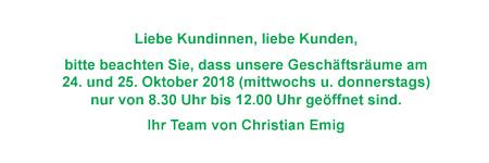 Messe München - Schließzeit 2018